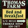 Thomas Farm Bed & Breakfast sign - Ithaca, NY