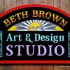 Beth Brown Art & Design Studio sign - Rochester, NY