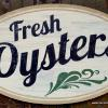 Simeon's Restaurant Fresh Oysters sign - Ithaca, NY
